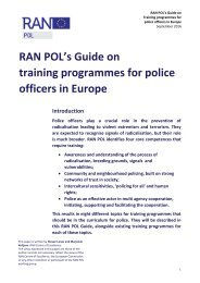 RAN POL's Guide on training programmes for police officers in Europe