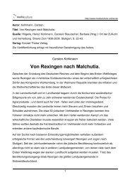 Von Rexingen nach Malchutia. - Mediaculture online