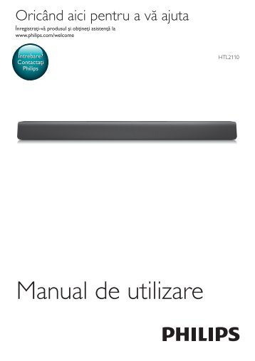Philips Barre de son - Mode d'emploi - RON
