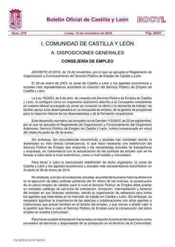 Boletín Oficial de Castilla y León I COMUNIDAD DE CASTILLA Y LEÓN