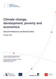 Climate change development poverty and economics