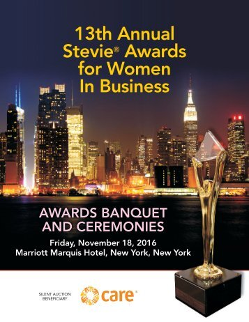 13th Annual Stevie Awards for Women In Business