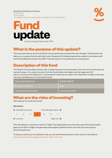 Fund update