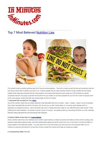 Top 7 Most Believed Nutrition Lies