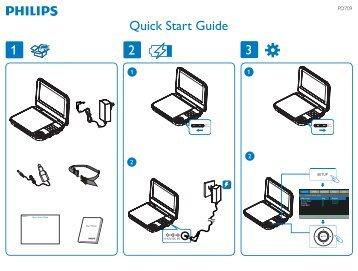 Philips Lecteur de DVD portable - Guide de mise en route - ENG
