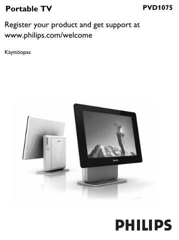 Philips Téléviseur portable - Mode d'emploi - FIN