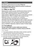 Philips Téléviseur portable - Mode d'emploi - FIN - Page 5