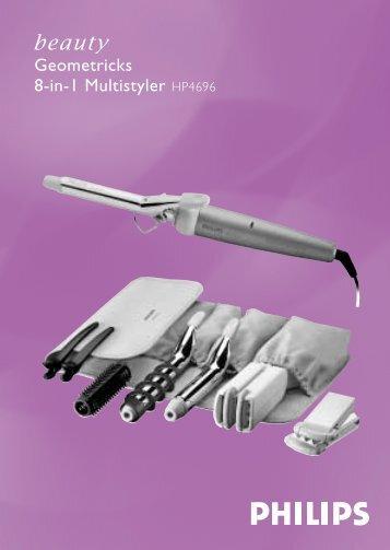 Philips SalonMultistylist Brosse multi-styles - Mode d'emploi - LIT