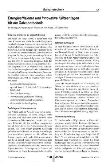 Energieeffiziente und innovative Kälteanlagen - L&R Kältetechnik ...