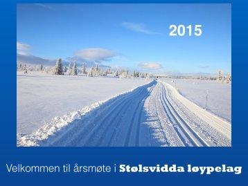 Årsmøte Stølsvidda løypelag 2015