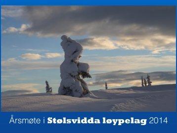 Årsmøte Stølsvidda løypelag 17.april 2014