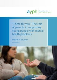 young people with mental health problems