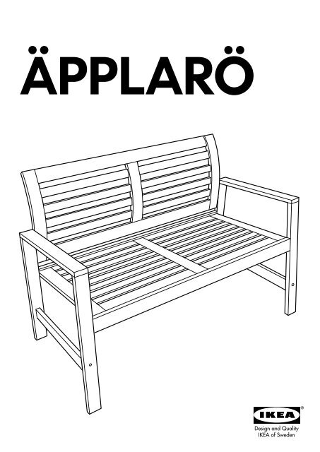 Ikea Panche Da Esterno.Ikea Applaro Tavolo 2 Panche Da Giardino S39053931 Istruzioni