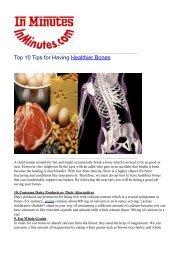 Top 10 Tips for Having Healthier Bones