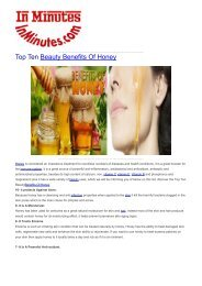 Top Ten Beauty Benefits Of Honey