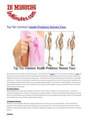 Top Ten Common Health Problems Women Face