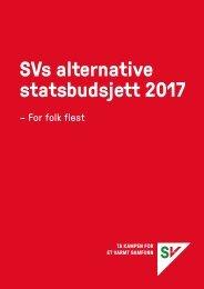 SVs alternative statsbudsjett 2017
