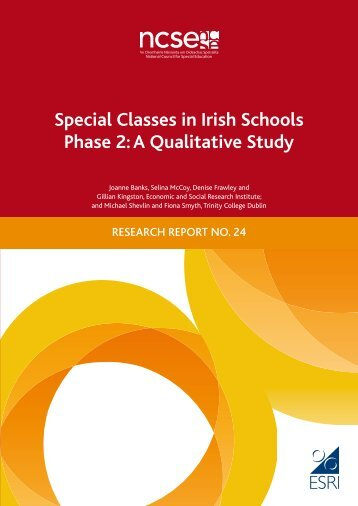 Special Classes in Irish Schools Phase 2 A Qualitative Study