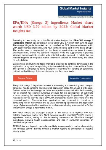 PDF - EPA-DHA (Omega 3) Ingredients Market Wordpress