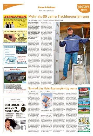 Bauen und Wohnen Ausgabe Forst Guben 12. November 2016