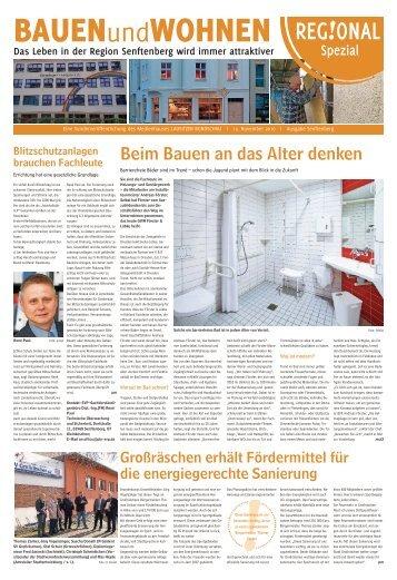 Bauen und Wohnen Ausgabe Senftenberg 12. November 2016