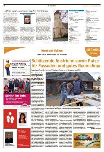 Bauen und Wohnen Ausgabe Weißwasser 12. November 2016