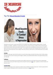 Top Ten Mood Booster Foods