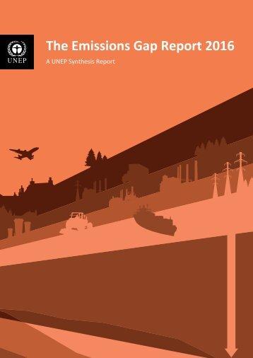 The Emissions Gap Report 2016