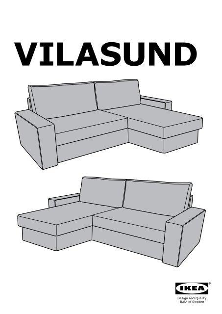 Ikea vilasund divano letto con chaise longue s49907185 for Divano con contenitore ikea