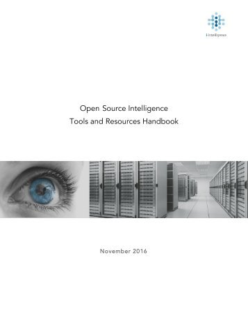 Open Source Intelligence Tools and Resources Handbook