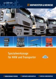 Spezialwerkzeuge für NKW und Transporter - Hofmeister & Meincke