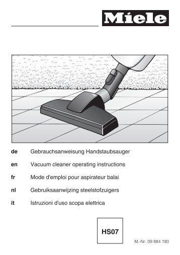 Miele Swing H1 Excellence EcoLine - SACJ1 - Istruzioni d'uso