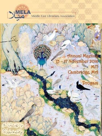 Annual Meeting 15 – 17 November 2016 MIT Cambridge MA Progam