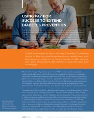 USING PAY FOR SUCCESS TO EXTEND DIABETES PREVENTION