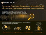 Symantec Data Loss Prevention —Now with CASB