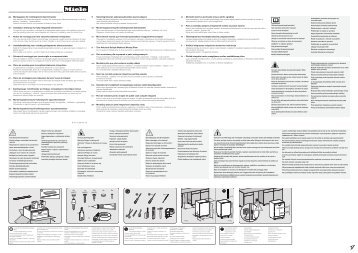 Miele G 4780 SCVi - Schema di montaggio