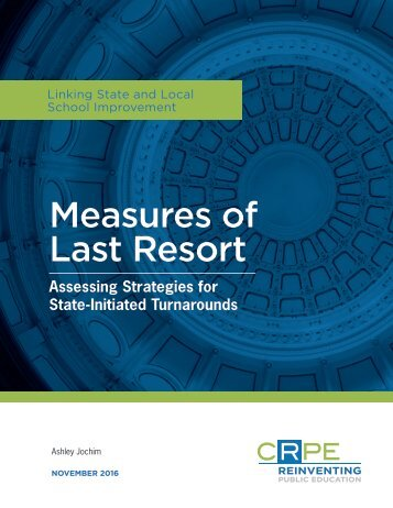 Measures of Last Resort