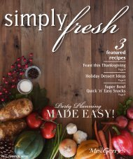 Mrs. Gerry's Kitchen Simply Fresh Fall-Winter 2016-2017