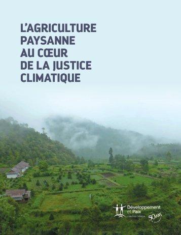 L'AGRICULTURE PAYSANNE AU CŒUR DE LA JUSTICE CLIMATIQUE