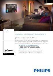 Philips Émetteur 3D - Fiche Produit - FRA