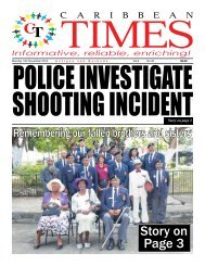 Caribbean Times 35th Issue - Monday 14th November 2016