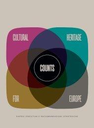 il patrimonio culturale conta per l'europa cultural heritage counts for europe