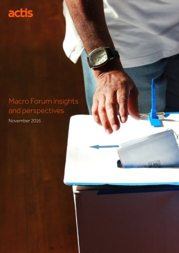 Macro Forum insights and perspectives