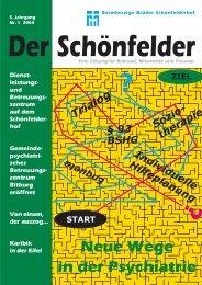 Neue Wege in der Psychiatrie - Barmherzige Brüder Schönfelderhof