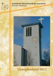 Pfarrbrief Ostern 2011 Trudering St Augustinus