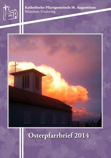 Pfarrbrief Ostern 2014 Trudering St Augustinus