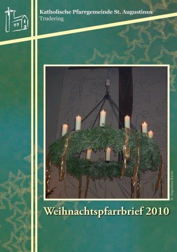 Pfarrbrief Weihnachten 2010 Trudering St Augustinus
