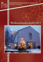 Pfarrbrief Weihnachten 2011 Trudering St Augustinus