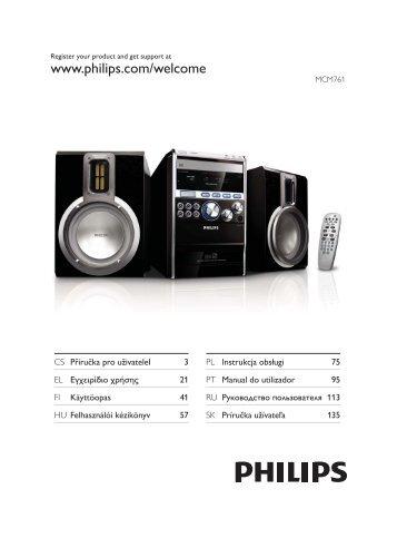 Philips Microchaîne hi-fi classique - Mode d'emploi - SLK