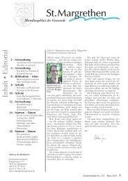 Mitteilungsblatt der Gemeinde - St. Margrethen